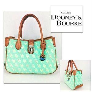 🎁🎄Vintage Dooney & Bourke Mint Green Satchel